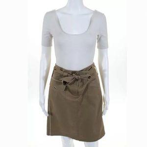 BCBG Belted Pencil Skirt